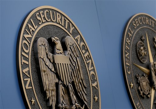 A sign stands outside the National Security Administration (NSA) campus on Thursday, June 6, 2013, in Fort Meade, Md. Another release of declassified government surveillance documents is underway as part of an ongoing civil liberties lawsuit. The Obama administration published more than 1,000 pages of once-secret court opinions and National Security Agency procedures on the website of the Office of the Director of National Intelligence on Nov. 18, 2103. (AP Photo/Patrick Semansky)