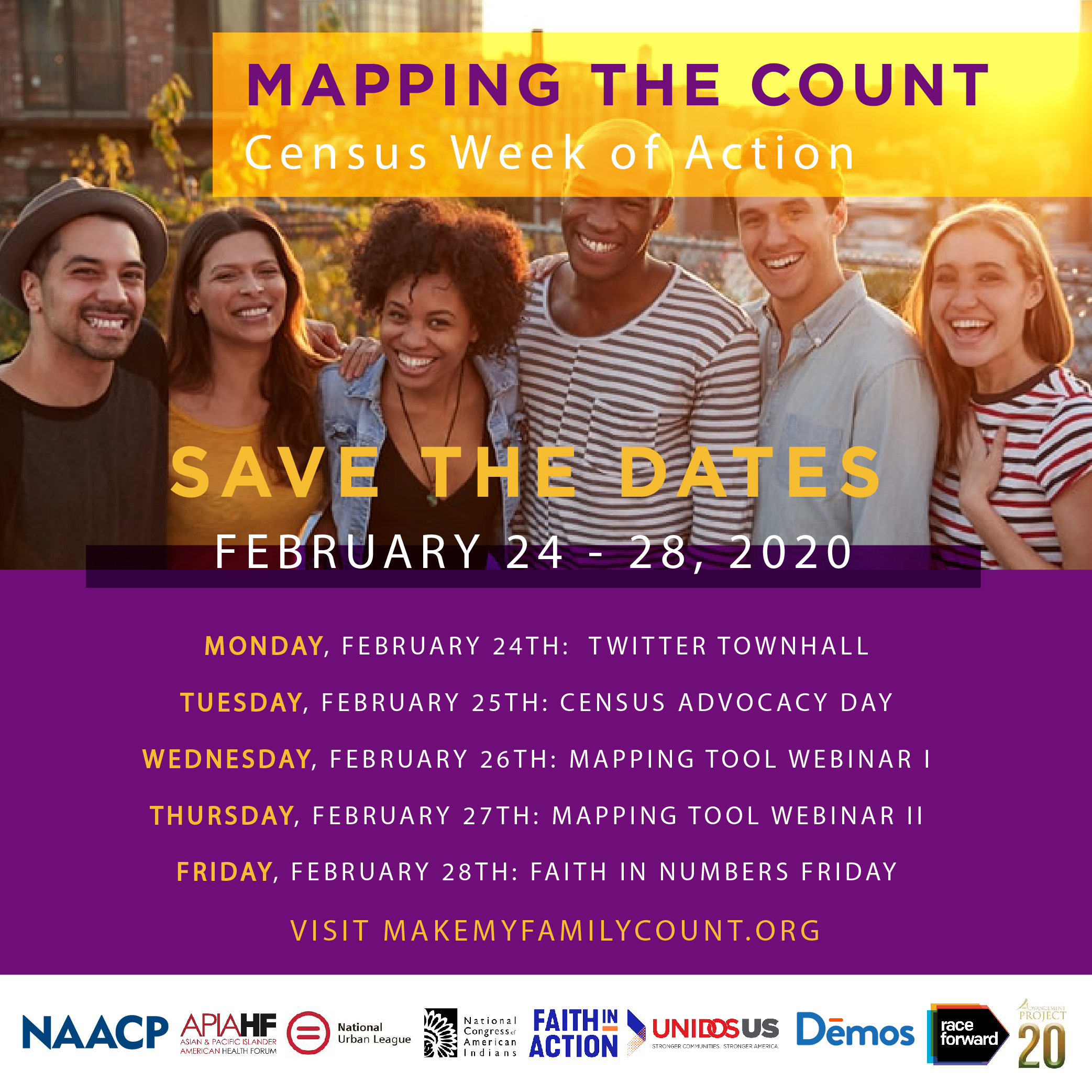 For more information on the Census Week of Action, visit naacp.org and follow us on Twitter and Instagram @NAACP.