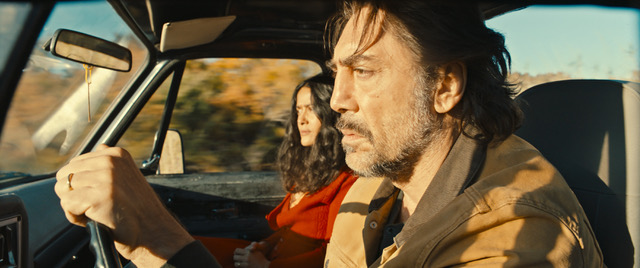 Javier Bardem and Selma Hayek in The Roads Not Taken