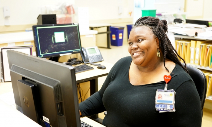 As nursing manager, Norman makes sure her staff and patients stay safe. Courtesy of Kaiser West Los Angeles